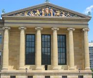 Philadelphia, Museum of Art. One of the wings of the Philadelphia Museum of Art Royalty Free Stock Image