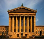 Philadelphia museum of art. Philadelphia art museum at sun down Royalty Free Stock Photography