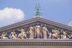 Philadelphia Museum of Art with plaza and fountain in Greek Revival style, Philadelphia, PA royalty free stock image
