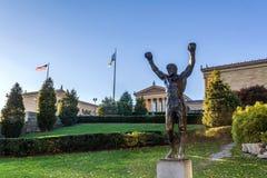 Philadelphia museum på nedgången Arkivbild