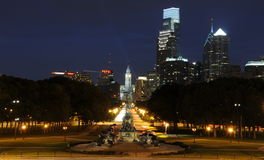 Philadelphia nachts Lizenzfreies Stockbild