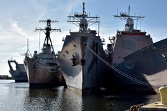 Philadelphia Navy Shipyard Royalty Free Stock Image