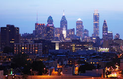 Philadelphia at night Royalty Free Stock Photos