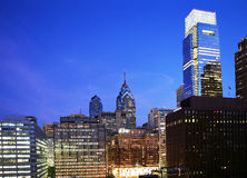 Philadelphia at Night Royalty Free Stock Images