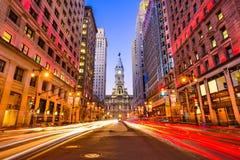 Philadelphia op Brede Straat Stock Afbeeldingen