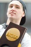 PHILADELPHIA PA - APRIL 8: Beröm ståtar för basketlagen för Villanova man` s, NCAA-mästare 2016 på April 8, 2016 Arkivbild