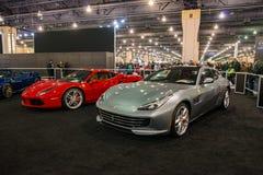 PHILADELPHIA, PA - 3 de febrero: Ferrari en el salón del automóvil 2018 de Philadelphia Foto de archivo libre de regalías