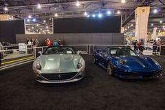 PHILADELPHIA, PA - 3 de febrero: Ferrari en el salón del automóvil 2018 de Philadelphia Imagen de archivo libre de regalías