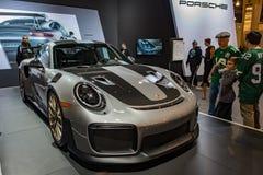 PHILADELPHIA, PA - 3 de febrero: Porsche en el salón del automóvil 2018 de Philadelphia Fotos de archivo libres de regalías