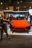PHILADELPHIA, PA - 3 de febrero: Porsche en el salón del automóvil 2018 de Philadelphia Foto de archivo