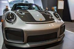 PHILADELPHIA, PA - 3 de febrero: Porsche en el salón del automóvil 2018 de Philadelphia Fotografía de archivo