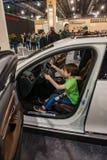 PHILADELPHIA, PA - 3 de febrero: Volvo en el salón del automóvil 2018 de Philadelphia Imagen de archivo