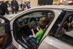 PHILADELPHIA, PA - 3 de febrero: Volvo en el salón del automóvil 2018 de Philadelphia Imagenes de archivo