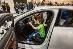 PHILADELPHIA, PA - 3 de febrero: Volvo en el salón del automóvil 2018 de Philadelphia Imágenes de archivo libres de regalías
