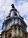 Philadelphia, PA: De Stad Hall Tower van Philadelphia Stock Foto's