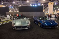 PHILADELPHIA, PA - Feb 3: Ferrari at the 2018 Philadelphia Auto Show royalty free stock image