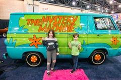PHILADELPHIA PA - Februari 3: Scooby Doo Mystery Time Machine Van på Philadelphia den auto showen 2018 royaltyfri foto