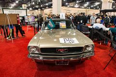 PHILADELPHIA, PA - 3 Februari: 1967 toont Ford Mustang bij 2018 Philadelphia Auto Royalty-vrije Stock Afbeeldingen