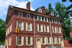 Philadelphia, PA: Historic 18th Century Todd House. The 18th century Todd House, once home to Dolly Todd Madison, built of Flemish Bond brick is one of the many Stock Photos