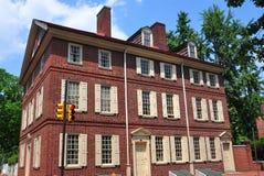 Philadelphia, PA: Historische 18de Eeuw Todd House stock foto's