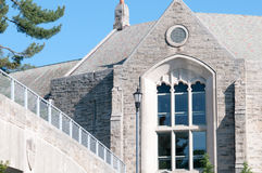PHILADELPHIA PA - MAJ 17: Universitetsområde för Saint Joseph ` s på avläggande av examendagen Maj 17, 2014 Arkivbild