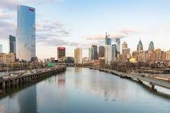 Philadelphia City Skyline from South Street stock image