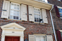 PHILADELPHIA, PA - MAY 14: The historic Old City in Philadelphia, Pennsylvania. Elfreth`s Alley, referred to as the Stock Photos