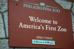 PHILADELPHIA, PA - MAY 30: Philadelphia Zoo, Amercia`s First Zoo. Wildlife refuge and zoological garden on May 30, 2017 Royalty Free Stock Photography