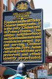 PHILADELPHIA, PA - MAY 14: Sign indicating the Chinatown section of downtown Philadelphia on May 14, 2015 Stock Photo