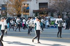 Philadelphia, PA - November 23, 2017: Annual Thanksgiving Day Parade in Center City Philadelphia, PA Stock Images