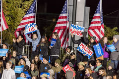 PHILADELPHIA, PA - OCTOBER 22, 2016: Crowd supports Hillary Clinton and Tim Kaine campaign for President and Vice-President of the Royalty Free Stock Photos