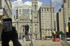 Philadelphia PA, 3rd Juli: Frimurar- tempel från Philadelphia i Pennsylvania USA Royaltyfri Fotografi