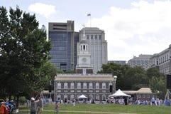 Philadelphia PA, 3rd Juli: Självständighet Hall på stadsberöm av Philadelphia i Pennsylvania USA Arkivbild