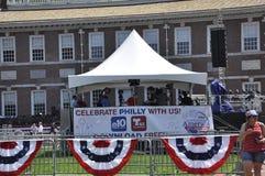 Philadelphia PA, 3rd Juli: Stadsberöm av Philadelphia i Pennsylvania USA Arkivbild