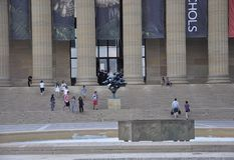 Philadelphia,PA, 3rd July: National Art Museum front Sculpture of Philadelphia in Pennsylvania USA Stock Photo