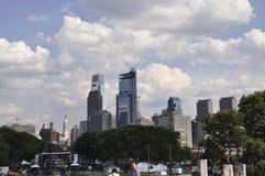 Philadelphia,PA, 3rd July: Skyline and Benjamin Franklin Parkway from Philadelphia in Pennsylvania USA Royalty Free Stock Image
