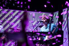 PHILADELPHIA PA - SEPTEMBER 20: Den reko musikbandet går utför i Philadelphia på September 20, 2014 Royaltyfria Bilder