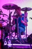 PHILADELPHIA PA - SEPTEMBER 20: Den reko musikbandet går utför i Philadelphia på September 20, 2014 Arkivfoto