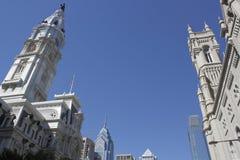 Philadelphia PA skyline with city hall Stock Image
