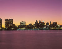 Philadelphia, PA skyline at sunset Royalty Free Stock Photography