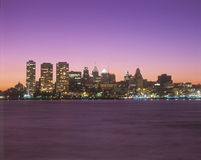 Philadelphia, PA skyline at sunset Royalty Free Stock Photos