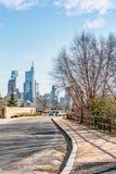 Philadelphia, Pennsylvania, de V.S. - December, 2018 - horizon de van de binnenstad van Philadelphia royalty-vrije stock foto