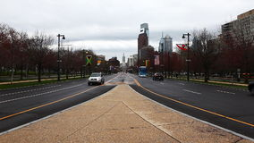 Philadelphia, Pennsylvania looking toward the city center stock video