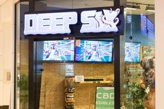 Deep Six | CBD Edibles & Vape Juice Shop. Philadelphia, Pennsylvania, May 21 2018: Deep Six | CBD Edibles & Vape Juice Shop royalty free stock photography