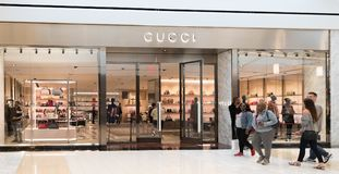 Gucci store front royalty free stock photography