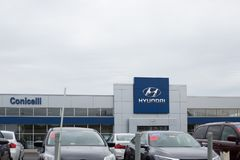 Hyundai Motor Company Dealership. Philadelphia, Pennsylvania, September 8, 2018:Hyundai Motor Company Dealership. Hyundai is a South Korean Multinational stock images
