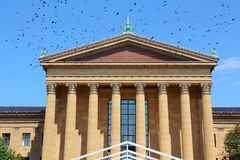 Philadelphia. Pennsylvania in the United States.  Museum of Art. Ominous birds stock photos