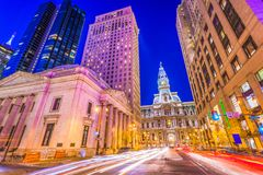 Philadelphia, Pennsylvania, USA on Broad Street stock photo