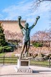Philadelphia Pennsylvania, USA - December, 2018 - Rocky Statue på Philadelphia royaltyfria bilder