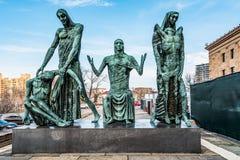 Philadelphia Pennsylvania, USA - December, 2018 - staty av social medvetenhet av Jacob Epstein, Philadelphia konstmuseum arkivbild